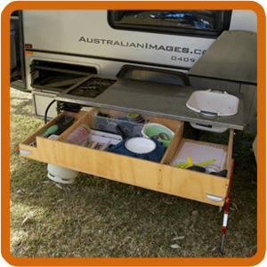 DIY Camper: Building a home made camper trailer kitchen